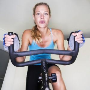 woman-on-stationary-bike