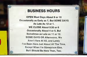 hours of business