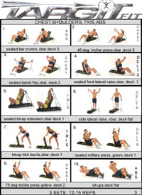Chest, Deltoids, Triceps & Abs Workout Chart